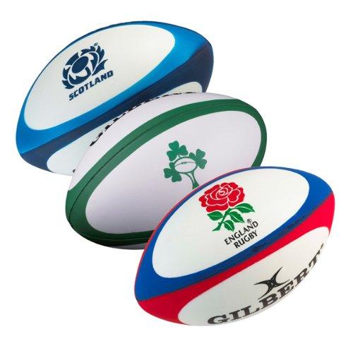Gilbert - Pallina antistress a forma palla da rugby dell'Inghilterra