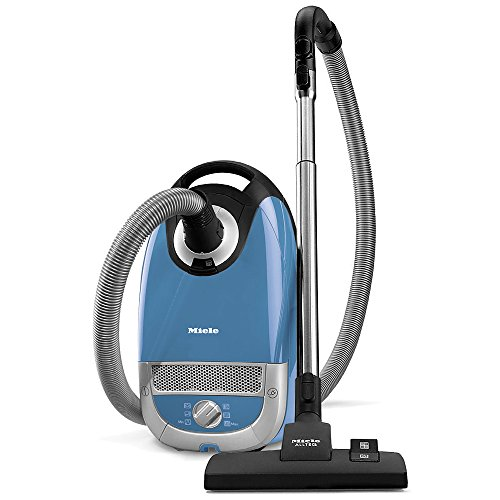Floor Care Essentials Hard Surface (Miele Complete C2 Hard Floor Canister Vacuum Cleaner with SBD285-3 Combination Rug and Floor Tool + SBB400-3 Parquet Twister XL Floor Brush - Tech Blue)