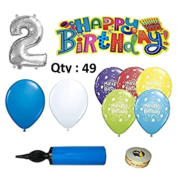 EASY PARTY STORE Birthday Decoration Kit For Boys 49 Pieces