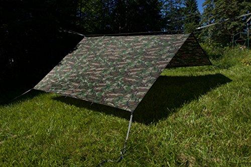 Aqua Quest Safari Sil Tarp - 100% Waterproof - 13 x 10 ft Large - Camo