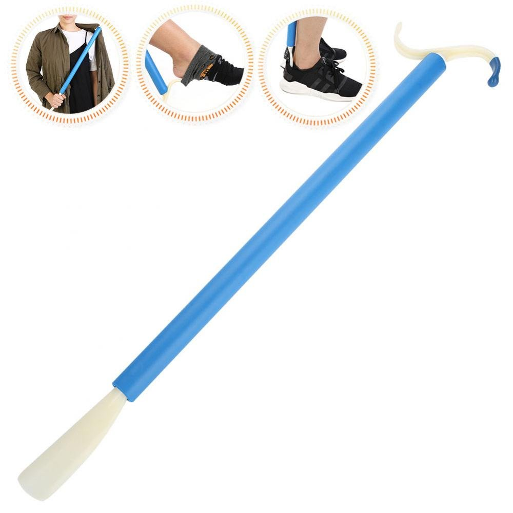 Dressing Stick, Multifunctional Adaptive Mobility Disability Dressing Aid Stick with Long Handle and Shoe Horn Sock Gripper