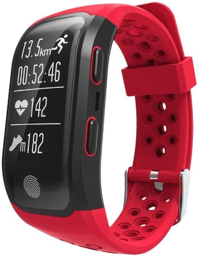 Ffshop Multifunción GPS Running Ciclismo Inteligente Especial del Reloj Atletismo al Aire Libre Contando Pulsera (Color : C)
