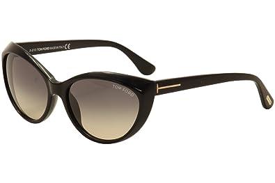 e62cbb56f8a30 Amazon.com  Tom Ford Sunglasses TF231 Martina 01B Shiny Black 231  Shoes