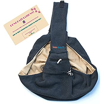 Pet Sling Carrier Dog Bag   Reversible and Hands-Free   Adjustable Strap  and Pocket   Comfortable Travel with Dog Cat Puppy   Up to 15 lbs   by  BuddyTastic 63a54f49b9