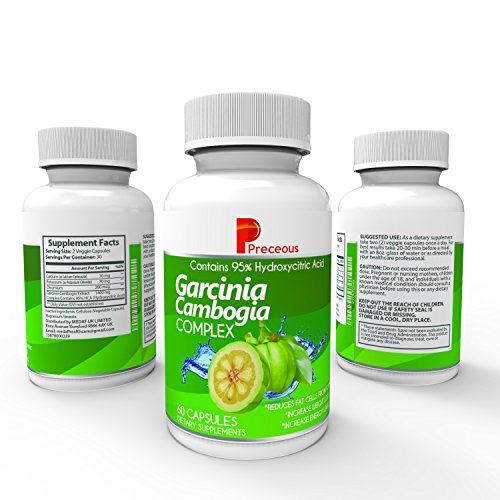100% Pure Garcinia Cambogia Extract 95% HCA 1400mg Per Serving Best Value Natural Appetite Suppresant Carb Blocker Highest Grade Weight Loss Supplement Lab Tested Non GMO