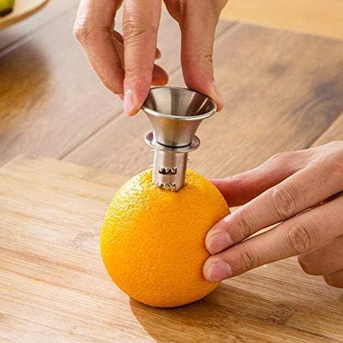 Rocita Acero Inoxidable Exprimidor de Cítricos con Boquilla Extractor de Jugo Juego de Zumo Exprimidores Manuales Prensa para Limones