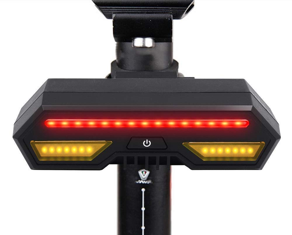USB Rechargeable Bike Tail Light-Super Bright 120 Lumens Waterproof Bicycle Rear Light with 6 Modes, Easy Install Led Red Light for Cycling Safety