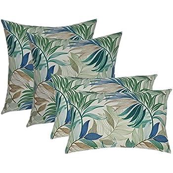Amazon Com Set Of 4 Indoor Outdoor Pillows 20 Quot Square