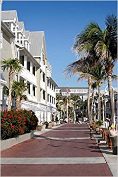 Street in Key West Florida Journal: 150 page lined notebook/diary