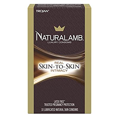 Trojan Naturalamb Lubricated Condoms, 10ct (packaging may vary)