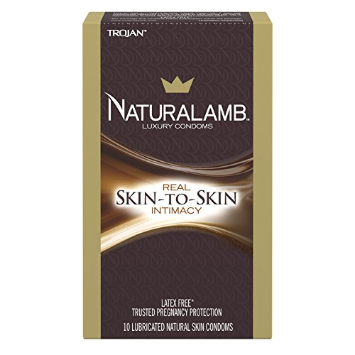TROJAN NaturaLamb Luxury Lubricated Natural Skin Condoms 10 (Trojan Naturalamb Lubricated Condoms)