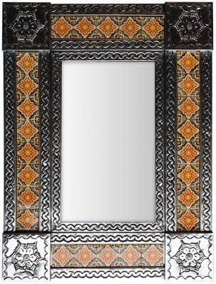 Small Silver Covelo Tile Mexican - Small Mirrors Silver