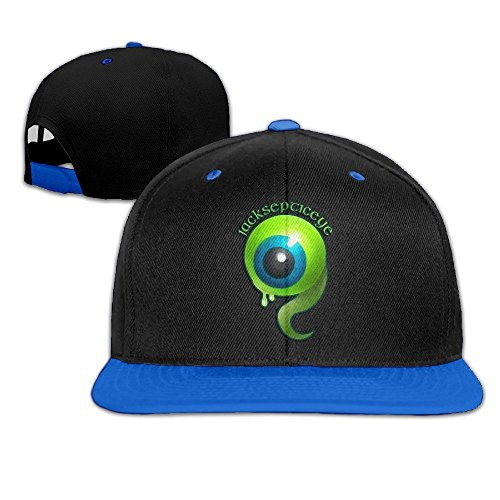 [Hip Hop JACKSEPTICEYE Blank Hats For Men] (Jumbo Hip Hop Adult Hat)
