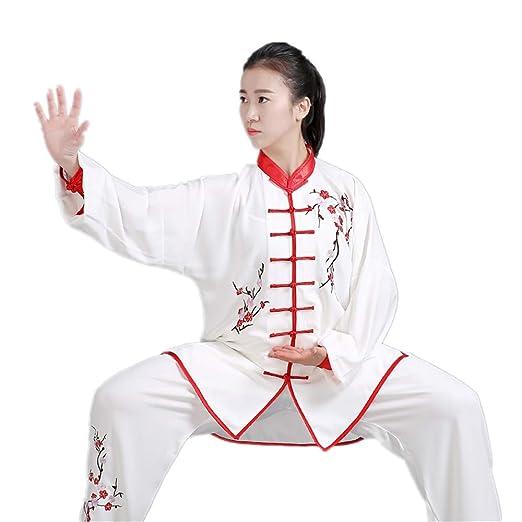 Amazon.com: Bordado a mano unisex Tai Chi Uniform algodón ...