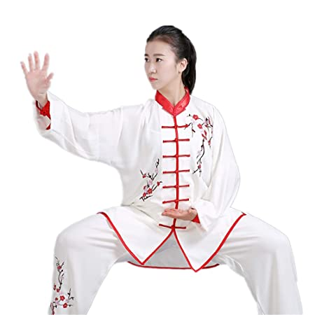 Amazon.com: Bordado a mano unisex Tai Chi Uniform algodón ...