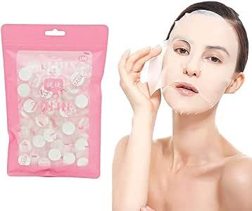 GSNML 100 PCS DIY Máscara Comprimida Desechable Mascarilla Facial ...