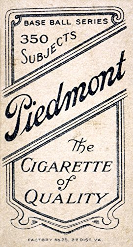 Baseball Card C1910 Nreverse Of An American Baseball Card C1910 Featuring An Advertisement For Piedmont Cigarettes Poster Print by (24 x 36) ()