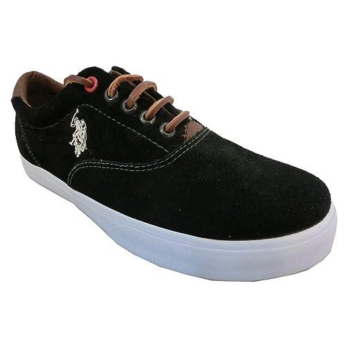 U.S.Polo A.S.S.N. - Zapatillas para hombre Negro negro 43: Amazon ...