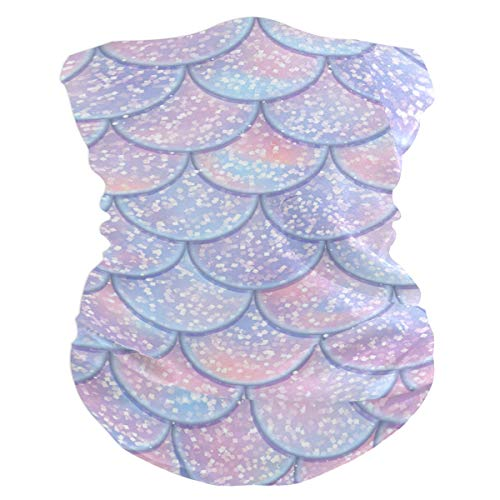 - PAN JOY Glitter Fish Scales Face Scarf Headband Bandana Mask for Men and Women Multifunctional Head Scarf Magic Scarf