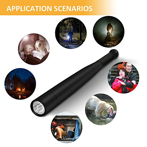 Tactical Flashlight Best Torch, Winbtek Cool Black Brightest Led Flashlight, 2000 Lumens, 3 Light Modes for Camping, Hiking, Inspection, Work, Repair and Emergency Use by Winbtek (Image #6)