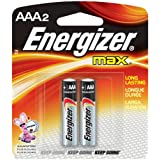 Energizer EVEE92BP2 E92BP2 AAA Alkaline General Purpose Battery, .5