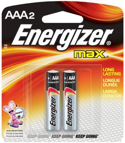 Batteries 2 Alkaline Aaa (Energizer Max Alkaline Batteries AAA 2 Each)