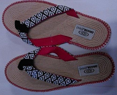 Brasileras Spar 100, Sandalias Flip-Flop para Mujer, (Cuadros/Red)