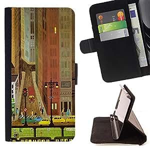 King Case - FOR Sony Xperia M2 - You make my heart smile - Prima caja de la PU billetera de cuero con ranuras para tarjetas, efectivo Compartimiento desmontable y correa para la mu?eca