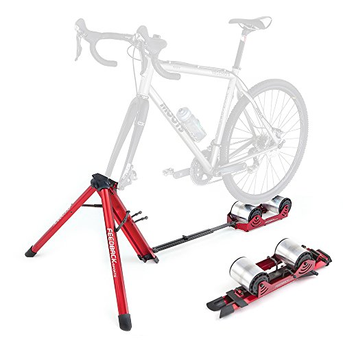 Feedback Sports Feedback Omnium Portable Bike Trainer with Tote Bag, Red
