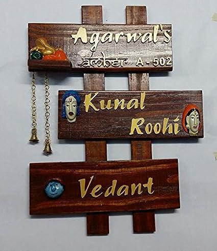 Karigaari India Family Name Plate