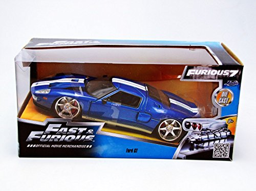 Amazon Com Ford Gt Fast Furious Movie Blue   By Jada  Toys Games
