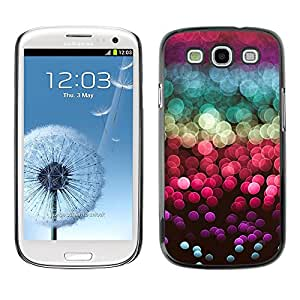 Be Good Phone Accessory // Dura Cáscara cubierta Protectora Caso Carcasa Funda de Protección para Samsung Galaxy S3 I9300 // glitter sea sun reflection red purple
