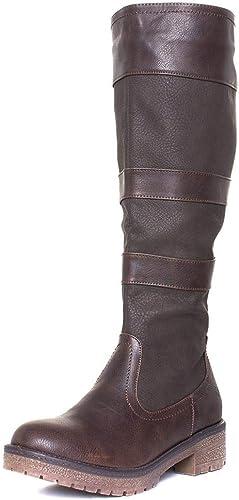 Heavenly Feet Burley Womens Brown Knee