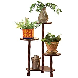 Wooden Tiered Plant Stand, Brown by Collections Etc