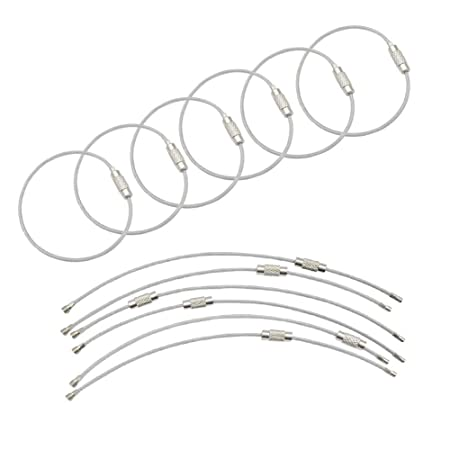 Amazon Com Dailin 25 Pack Wire Keychain Cable 6 Inch Stainless