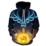 TYLI Men's 3D Digital Printing Hooded Sweater Round Neck Casual Jacket Baseball Uniform Reviews