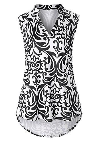 Luranee Fancy Shirts for Women, Girls Dressy Tops Curvy Hem Loose Tank Top Sleeveless Blouses Cute Funny Flattering Flowing Stunning Outstanding Amazing Tee Shirt Black XXL ()