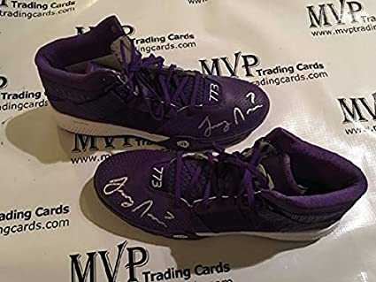 38b4e1f675fa0 Image Unavailable. Image not available for. Color  Beckett Authentic Larry  Nance Jr Autograph Adidas Derrick Rose ...