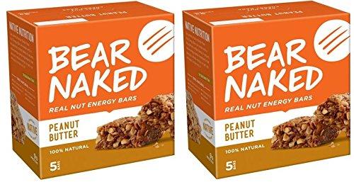 Bear Naked Real Nut Energy Bars Peanut Butter, 5 Bars (Pack of 2)