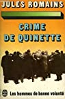 Les Hommes de bonne Volonté, tome 2 : Crime de Quinette par Romains