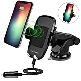 #7: Wireless Car Charger for iPhone X, iPhone 8 Plus/iPhone 8, and Other Qi-Enabled Devices , Provides Fast-Charging for Samsung Galaxy Note 8/S8/ S8+/ S7 / S7 edge / S6 edge+, and Note 5-Black