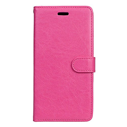 Anzeal Xiaomi Redmi Note 4 Case,[Stand Function] [3 Card Slots] PU Folio Flip Wallet With Strap Magnetic Case Leather Protective Cover for Xiaomi Redmi Note 4 Rose