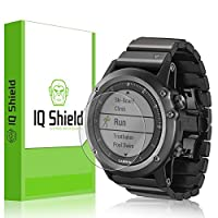 Protector de pantalla Garmin Fenix 3, protector de pantalla de cobertura total IQ Shield LiQuidSkin (paquete de 6) para película transparente anti-burbujas de Garmin Fenix 3 HD - con