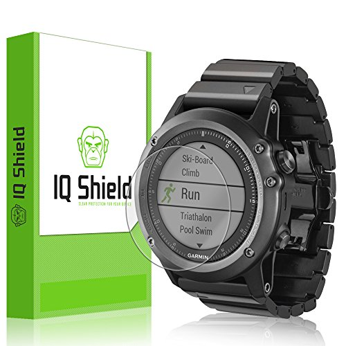Garmin Fenix 3 Screen Protector, IQ Shield® LiQuidSkin (6-Pack) Full Coverage Screen Protector for Garmin Fenix 3 HD Clear Anti-Bubble Film - with Lifetime Warranty