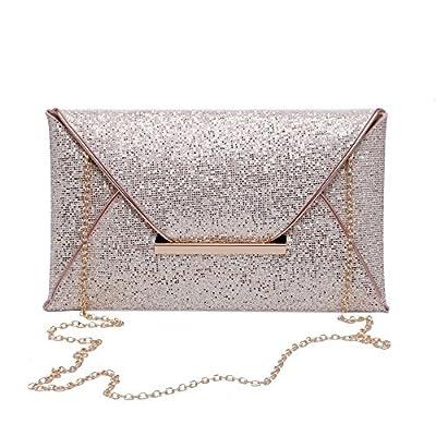 OWNMAGI Women Glitter Sequins Handbag Party Evening Envelope Clutch Bag Wallet Purse