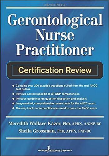 Gerontological Nurse Practitioner Certification Review ...