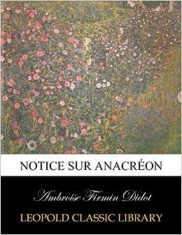 Book Notice sur Anacréon