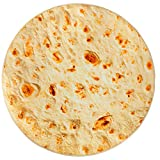 Fuloon Burritos Tortilla Blanket,Realistic Burritos Wrap Giant Round Blanket,Novelty Soft Flannel Food Tortilla Blanket for Children Adults (Yellow, 60 inches)