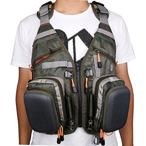 Amarine made fly fishing backpack adjustable size mesh for Fishing vest amazon