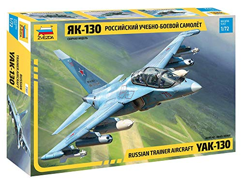 ZVEZDA 7307 - Russian Trainer Aircraft YAK-130 - Plastic Model Kit (Unpainted) Plastic Model Kit Scale 1/72 176 Details Lenght 6.3